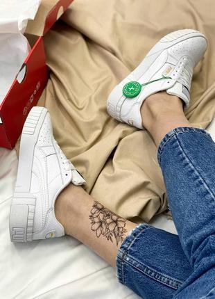 Кроссовки в стиле puma cali white2 фото