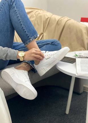 Кроссовки в стиле puma cali white7 фото
