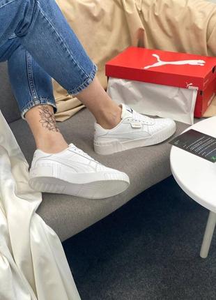 Кроссовки в стиле puma cali white6 фото