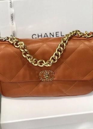 Модная оранжевая сумка шанель chanel