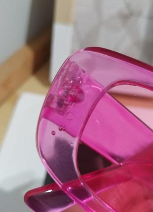 Тренд розовые солнцезащитные очки узкие новые прямоугольные ретро окуляри сонцезахисні рожеві9 фото