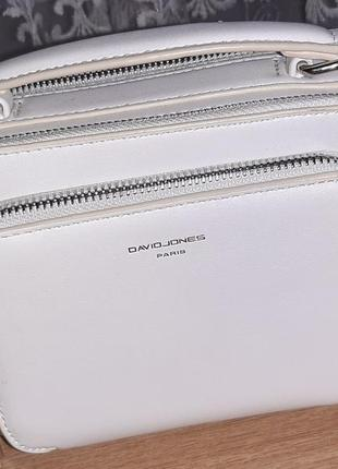 Біла сумочка кроссбоди david jones