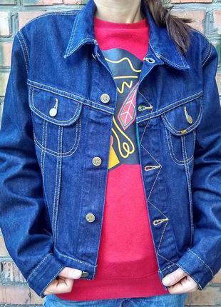 Модный укороченный джинсовый пиджак lee