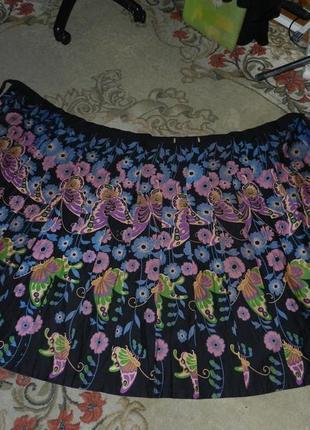 Шикарная,натуральная-хлопок,длинная юбка на запах,бохо,большого размера-оверсайз,таиланд