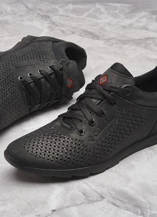 Классные мужские летние туфли кроссовки коламбия