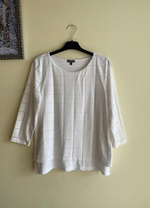 Дуже класна білий лонгслів, кофточка, белая блуза, лонгслив м размер