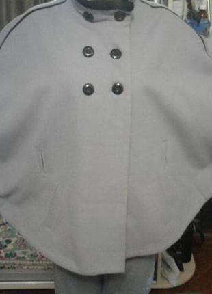 Пальто не zara пончо для беременных,полных батал большой размер plus-size