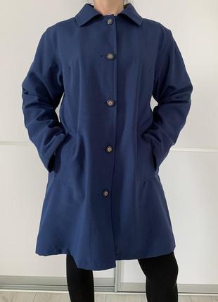 Жіноче ппльто, пальто на подкладке, синее пальто теплое.