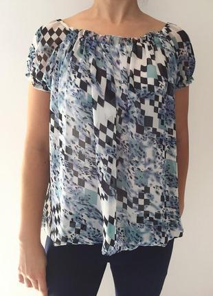 Футболка, голубая футболка, летняя футболка-блуза.