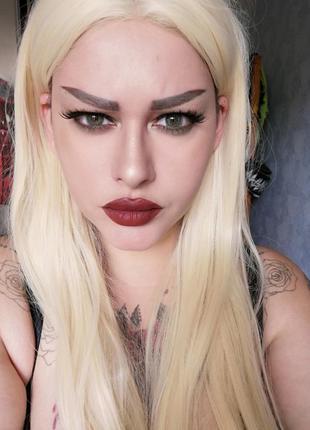 Парик длинный платиновый блонд/белый/блондинка из канекалона