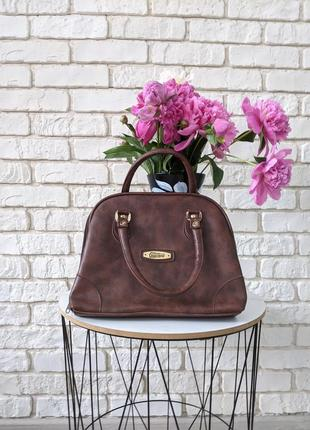 🔥🔥🔥 сумка graceland с короткими ручками коричневая