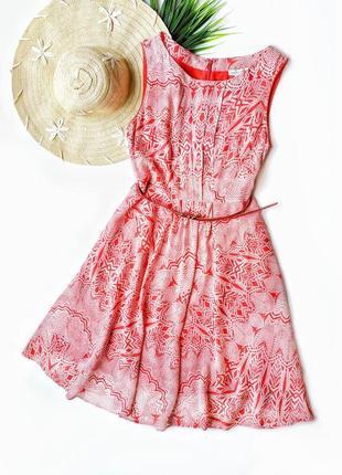 Воздушное платье миди из натуральной ткани monsoon.
