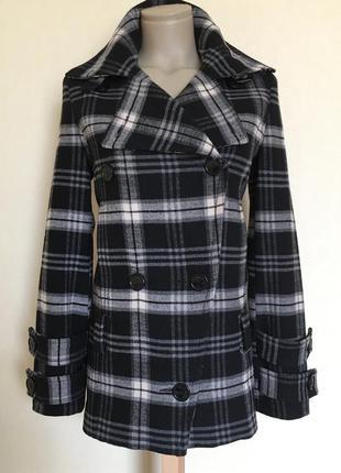 Доступно - стильное клетчатое пальто *mango* р. xs
