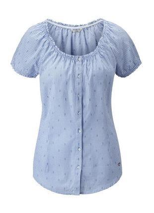 Sale -50%! летняя блузка в клетку хлопок tcm tchibo