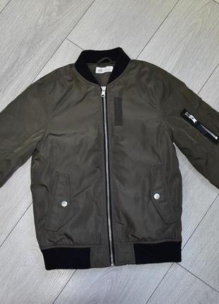 Детская куртка хаки на 9 10 лет h&m