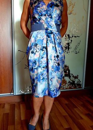 Новое нежное платье из атласного шелка ariella