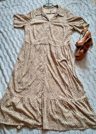 Женское платье рубашка большого размера