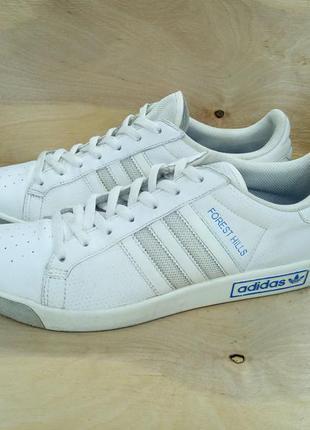 Кожаные кроссовки adidas forest hill ( 43 размер )