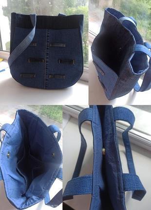 Джинсовая сумка ручной работы