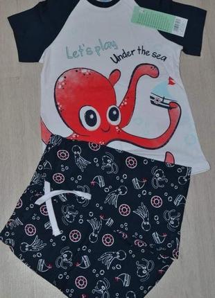 Комплект летний набор шорты футболка pepco  набір комплект літній