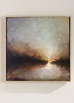 Картина. пейзаж. закат. живопись для интерьера . абстракция