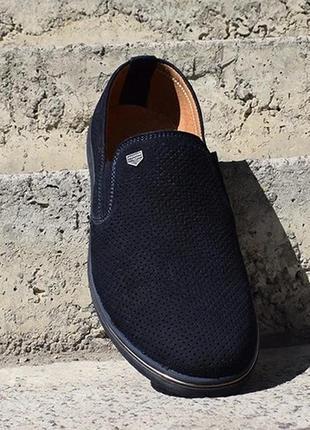 Туфли с перфорацией натуральная кожа нубук kadar