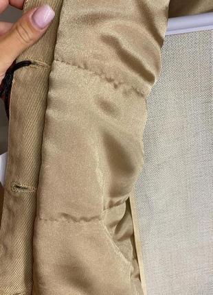 Женская бежевая джинсовка джинсовая куртка с норкой, s-xl4 фото