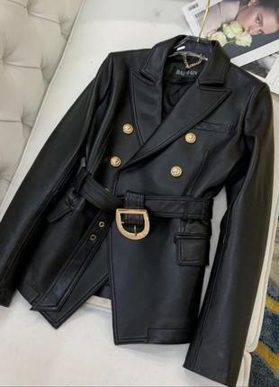 Куртка из натуральной кожи balmain