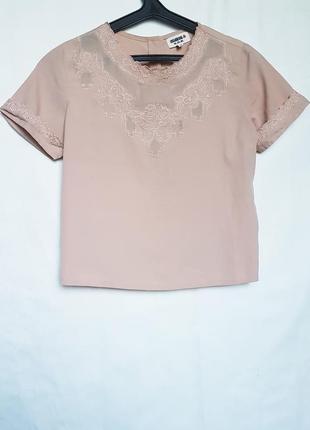 Топ блуза с пуговицами  по спинке