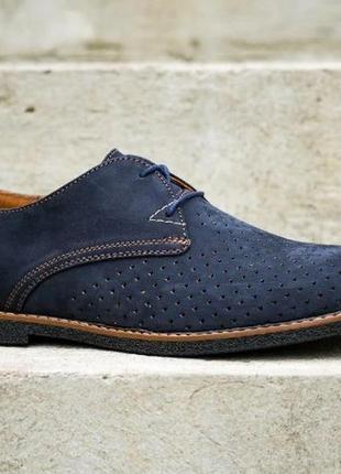 Туфли мокасины на шнурках с перфорацией натуральная кожа4 фото