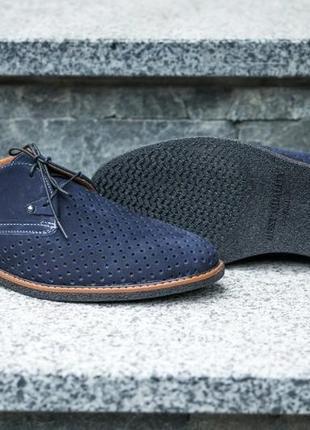 Туфли мокасины на шнурках с перфорацией натуральная кожа3 фото