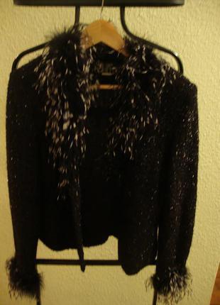 Кофта-пиджак с натуральным лебединым пухом tonglin