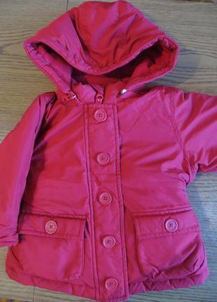 Демисезонная теплая куртка baby gap на 1-2 года