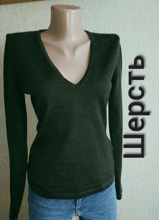 Стильный фирменный свитер джемпер пуловер, р.34,36 сделан в италии