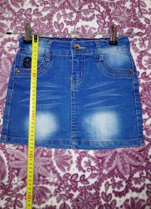 Джинсовая юбка на 6-7 лет