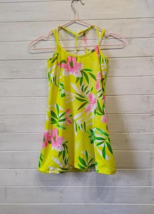 Плажное,для плаванья платье на девочку 7-9 лет