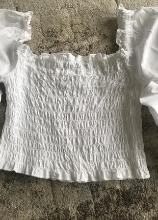 Топ топик кофта рубашка рукава фонарики буфи с объёмными рукавами3 фото