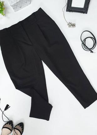 🖤трендовые чёрные  брюки с защипами от new look