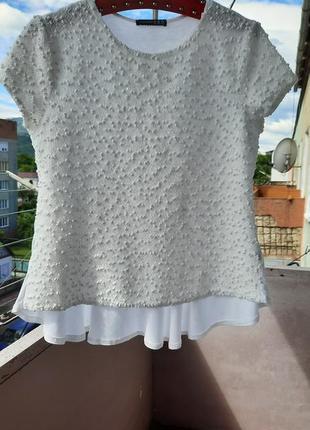Белая блуза-букле atmosphere