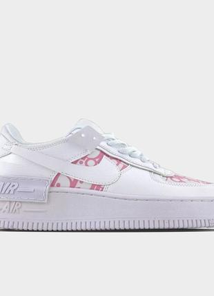 Nike air force 1 shadow x christian dior pink.