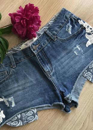 Шорты джинсовые мини authentic denim 12 размер