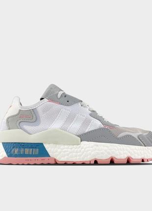 Adidas nite jogger grey white.