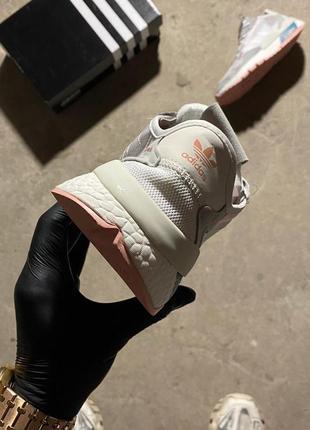 Adidas nite jogger grey white.6 фото
