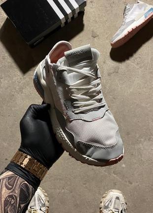Adidas nite jogger grey white.2 фото