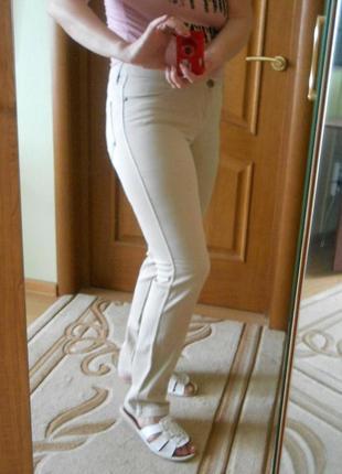 Джинсы штаны джинсовые брюки inspiration by sela летние светлые прямые