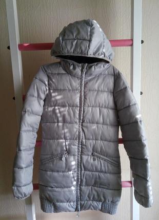 Зимняя куртка oodji серая на синтепоне размер xs