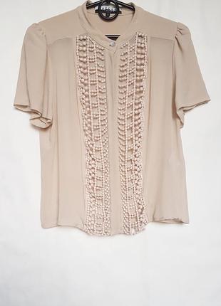 Топ блуза из шелка натурального