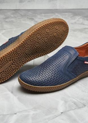 Туфли натуральная кожа с перфорацией levis
