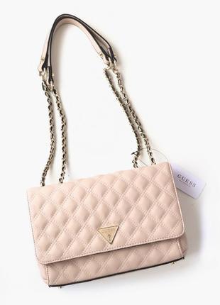 Розовая сумка guess оригинал