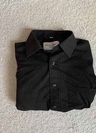 Чёрная рубашка, классическая рубашка, мужская рубашка